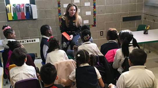 Race Car Driver & Harvard Student Aurora Straus Visits East Side House