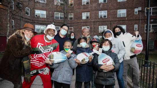 Tracy Morgan, GNYADA, Manhattan Motorcars, LaSorsa Chevrolet-Buick made Thanksgiving a little Warmer